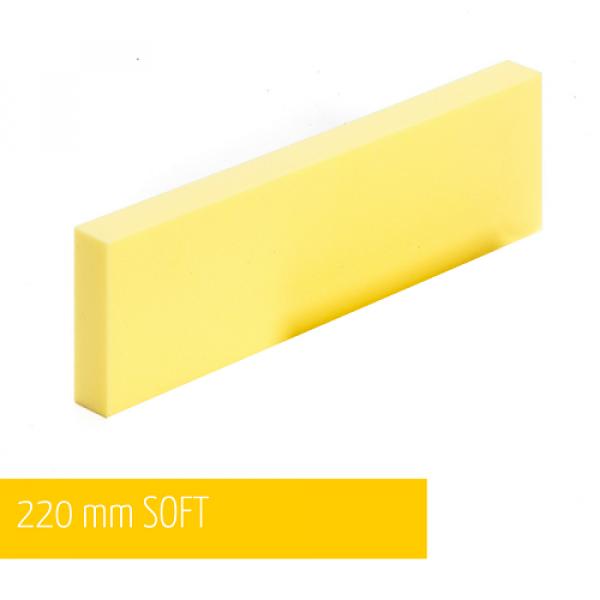 NAT Klocek Szlifierski Miękki Żółty Plus 22cm