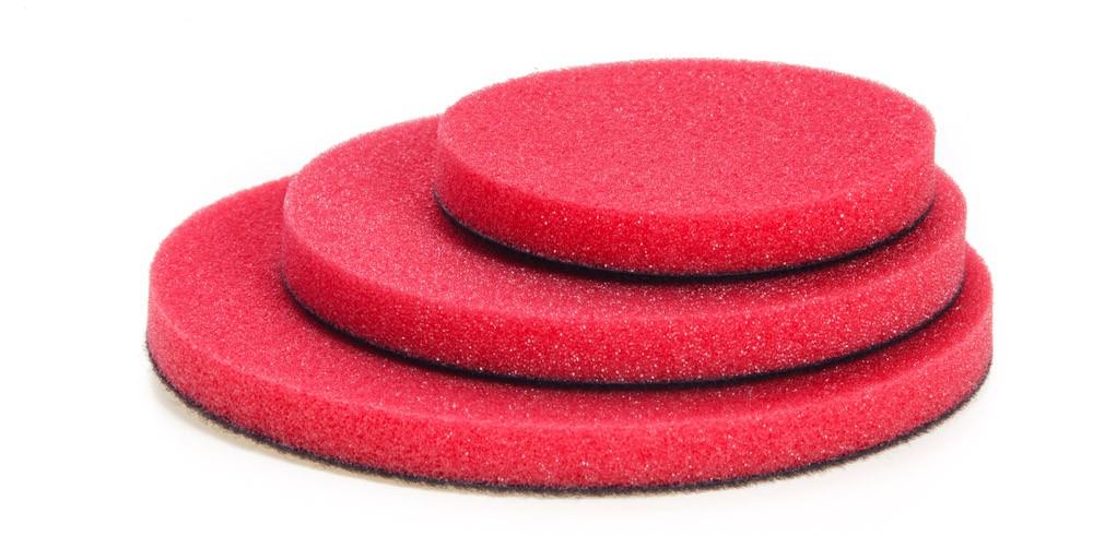 NAT Czerwona średnio miękka gąbka polerska 50mm