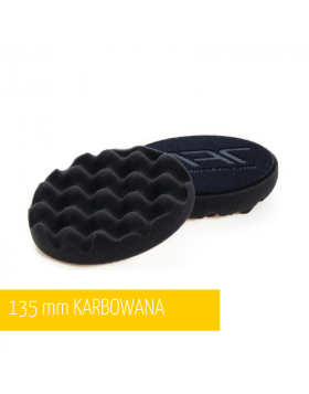 NAT Czarna Karbowana Miękka Gąbka polerska 135mm