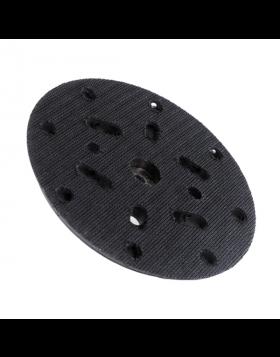 Talerz mocujący standardowej twardości, wyposażony w mocowanie M8. Fabrycznie montowany do maszyn polerskich LARE, lecz pasuje do większości maszyn dostępnych na rynku. Pozwala na większą kontrolę siły docisku do polerowanej powierzchni. Do stosowania z p