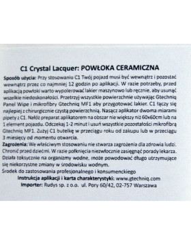 Gtechniq C1 Crystal Lacquaer 50ml