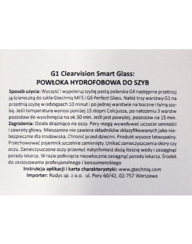 Gtechniq G1 ClearVision Smart Glass 100ml