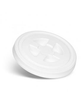 CleanTech Pokrywka zakręcana do wiadra biała z uszczelką
