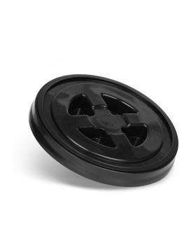 CleanTech Pokrywka zakręcana do wiadra czarna z uszczelką