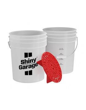 Shiny Garage Wash Bucket 20L + Red GritGuard