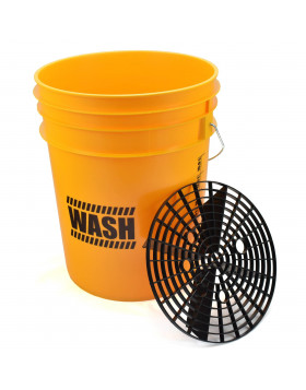 Work Stuff Detailing Bucket Yellow Wash Wiadro + separator