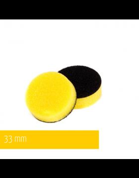 NAT Żółta Średnia gąbka polerska 33mm