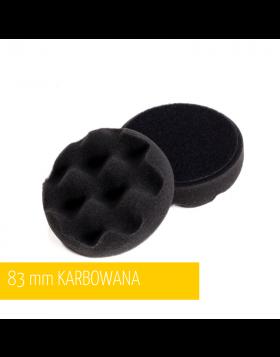 NAT Czarna Karbowana Miękka Gąbka polerska 80mm
