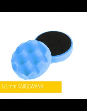 NAT Niebieska Karbowana Twarda Gąbka polerska 80mm