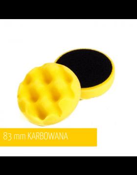 NAT Żółta Karbowana Średnia Gąbka polerska 80mm