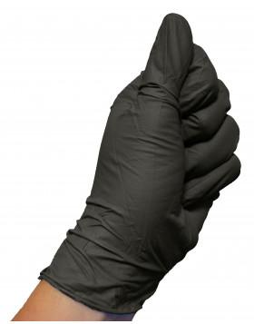 Colad czarne rękawiczki nitrylowe L 60szt.