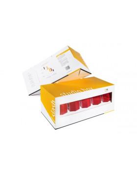 NAT Studio Box Slash DA Czerwona Średnio Miękka gąbka polerska 133/148mm